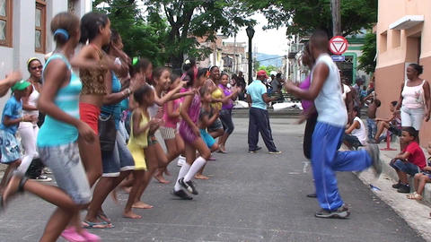 Dancing on the street Footage