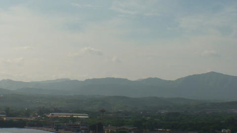 Overview of the City, mountains Stock Video Footage