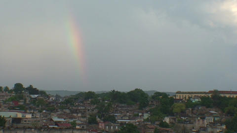 Overview of the City rainbow Footage