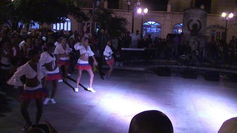 Ruenda de Casino on plaza part 1 Stock Video Footage