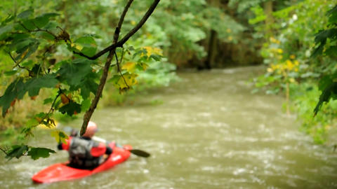 Stream with kayak Footage