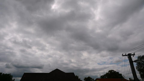 overcast clouds time lapse Stock Video Footage