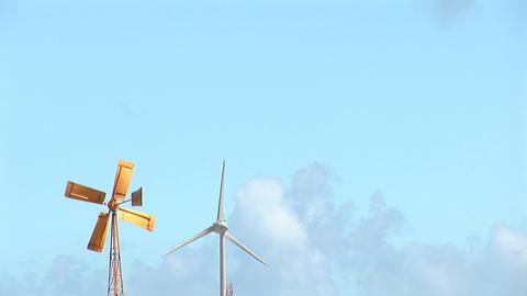 56 b old new windmills leftside Footage