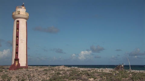 Lighthouse on Bonaire Stock Video Footage