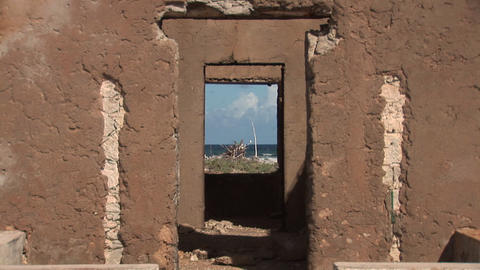 Old ruin on Bonaire Footage