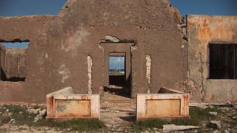 Old ruin on Bonaire Stock Video Footage