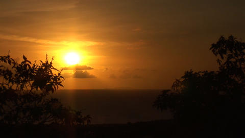 Sunset on Bonaire Stock Video Footage