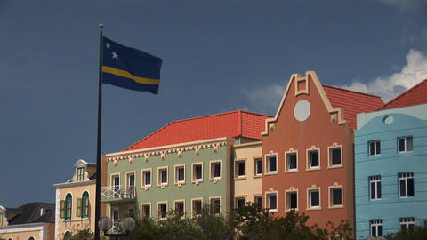 Curacao flag Stock Video Footage