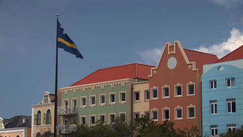 Curacao flag Stock Video Footage
