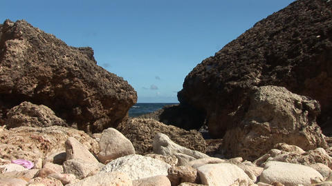 Rough coast on Curacao Stock Video Footage