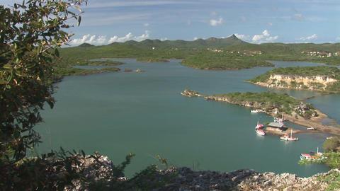 A bay on Curacao Footage