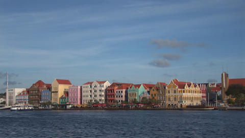 Ferry in Willemstad Stock Video Footage