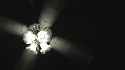 Ceiling fan on black Footage