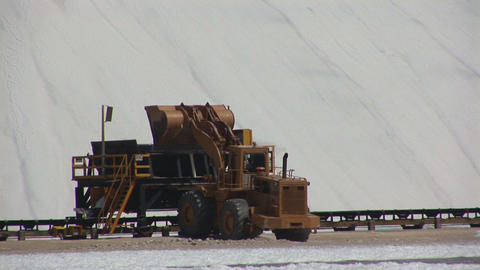 Salt mining on Bonaire Stock Video Footage