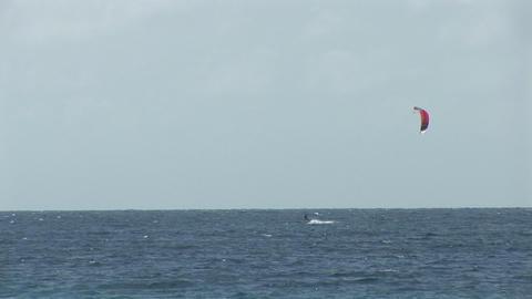 Kite surfing wide Footage