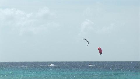 Two kitesurfers Stock Video Footage