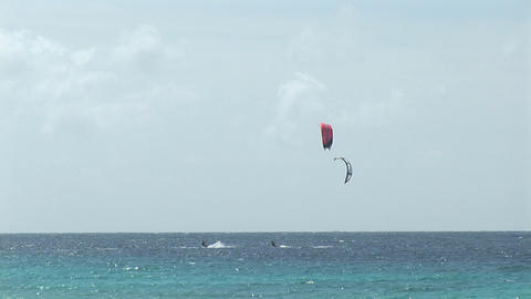 Two kitesurfers Footage