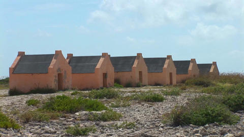 Slave huts on Bonaire Footage