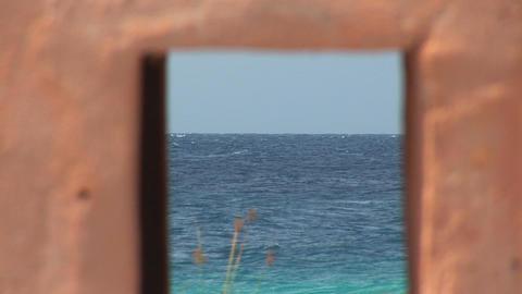Slave hut on Bonaire Stock Video Footage