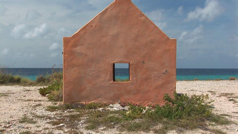Traditional slave hut on Bonaire Stock Video Footage
