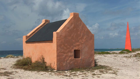 Slave hut and memorial Stock Video Footage