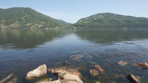 Siberian River Yenisei 01 Stock Video Footage