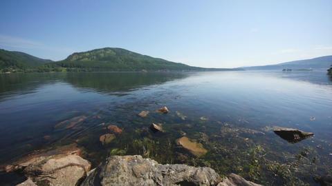 Siberian River Yenisei 03 Stock Video Footage