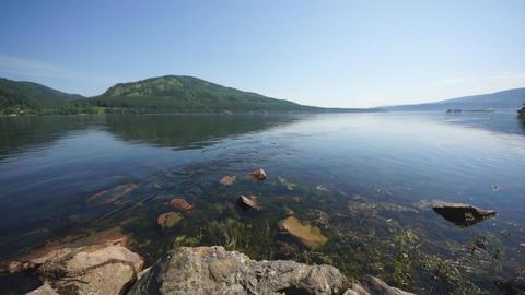 Siberian River Yenisei 03 Footage