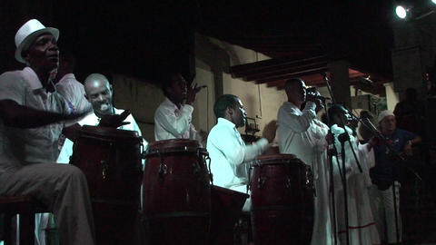 Trinidad Bigband at Casa de la Música 4 Stock Video Footage