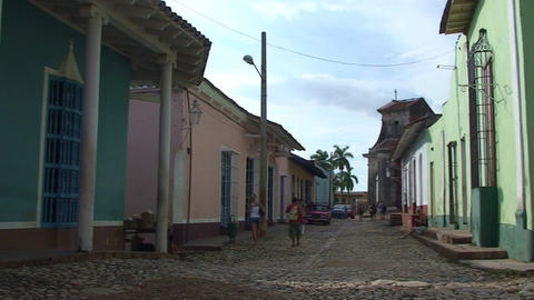 Trinidad Casa de la Trova panshot Stock Video Footage