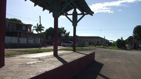 Trinidad Level crossing trainstation Stock Video Footage