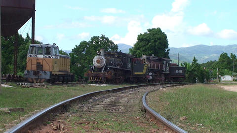 Trinidad old steam train 2 Stock Video Footage