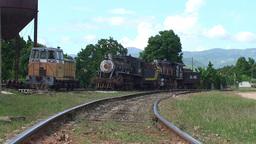 Trinidad old steam train 2 Footage