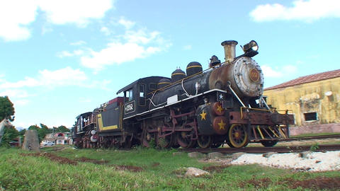 Trinidad old steam train bell ringing Stock Video Footage