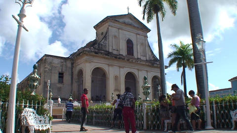 Trinidad Parroquial de la Santisima church Stock Video Footage