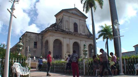 Trinidad Parroquial de la Santisima church Stock Video Footage