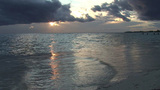 Trinidad Playa Ancón beachview at sunset Footage