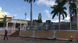 Trinidad Plaza Mayor panshot Footage