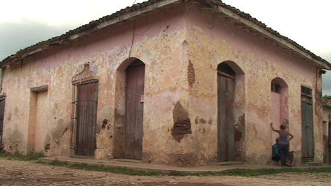 Trinidad Streetview colonial houses 2 Footage