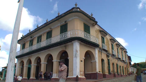 Trinidad Streetview colonial houses 4 Footage