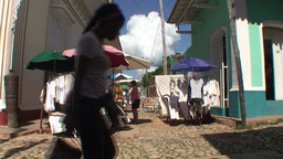 Trinidad Streetview market Stock Video Footage