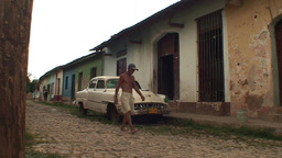 Trinidad Streetview oldtimer Footage