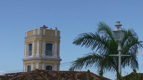 Trinidad Tower of museo palacio Cantero Stock Video Footage