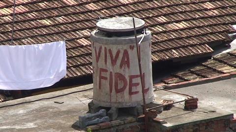 Trinidad Viva Fidel Stock Video Footage