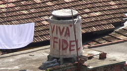 Trinidad Viva Fidel Stock Video Footage