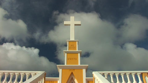 Cross in the tropics Footage