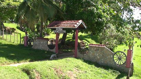 Valle de los Ingenios Hacienda entrance Stock Video Footage