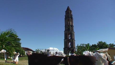 Valle de los Ingenios Manaca Iznaga tower Stock Video Footage