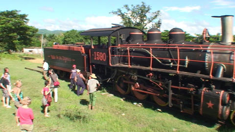 Valle de los Ingenios train old steamtrain 2 Stock Video Footage
