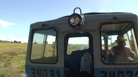 Valle de los Ingenios train view at the operator 3 Stock Video Footage